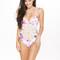 Frankie's bikinis poppy one piece - floral stripe