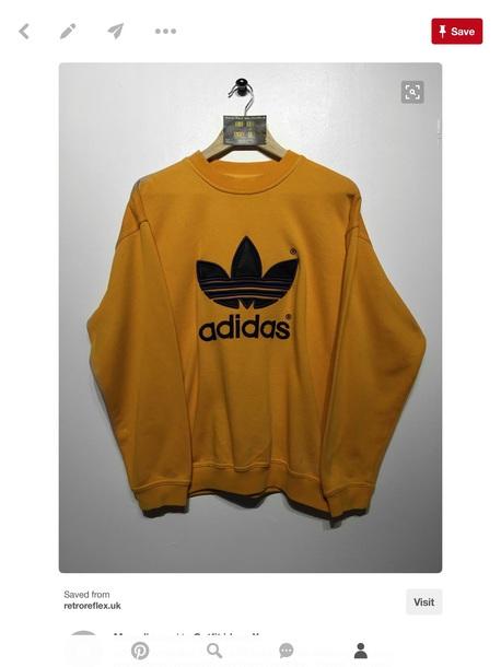sweater adidas yellow