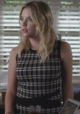 dress pretty little liars ashley benson hanna marin black plaid
