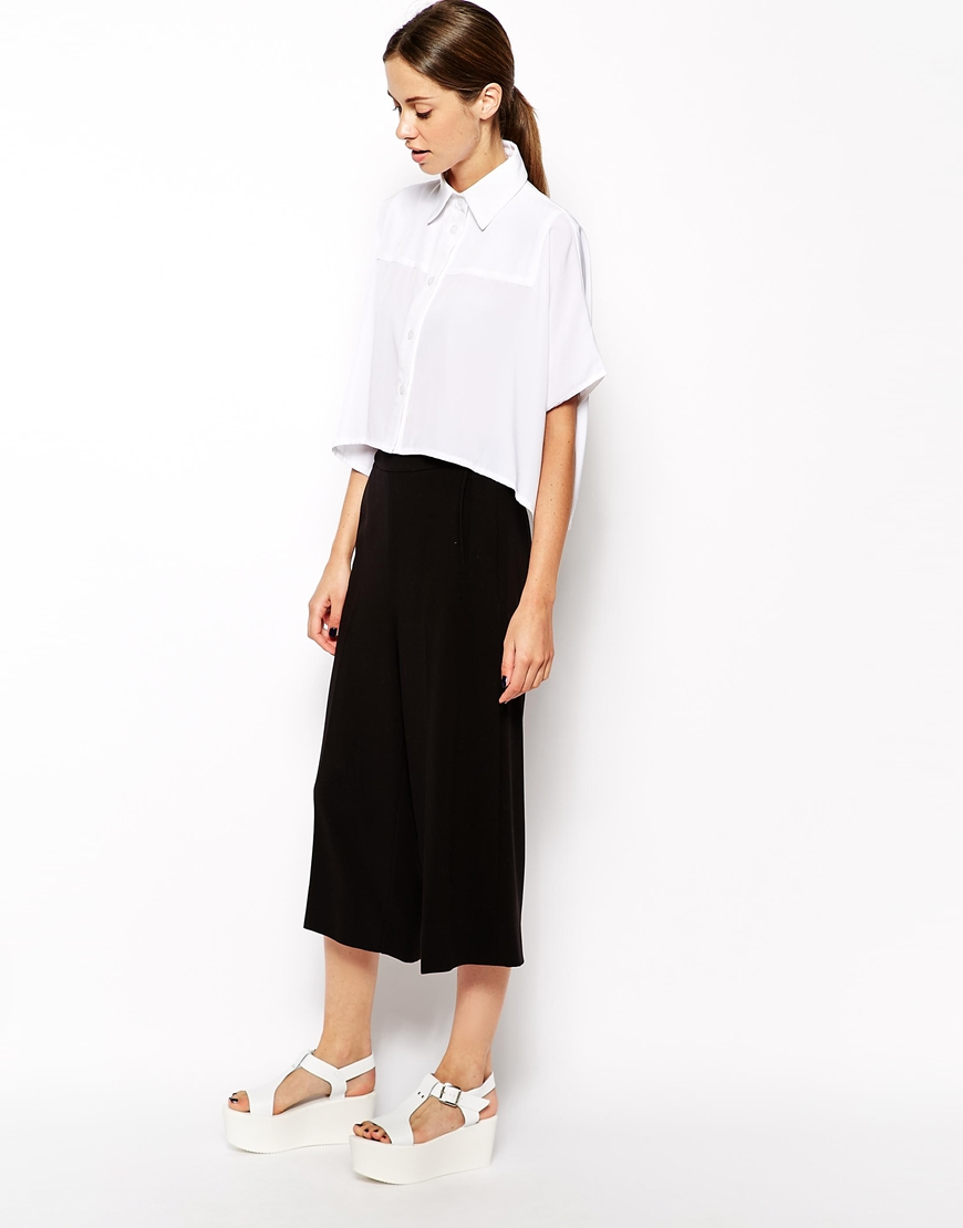 The Laden Showroom X Mirror Mirror Boxy Crop Batwing Shirt at asos.com