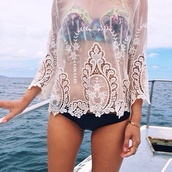 blouse,white #lace,white #lace #longsleeved,shirt,lace,bikini,cover,white,beach,detail,mesh,pattern,see through,embroidered,cover up,swimwear,top,sexy,blue,make-up,lace white shirt,pretty,fashion,body,rich fashion,flowers white,white lace sheer,crochet,stitching,sheet,sheer,flowers,lace crochet sheer,bikini top,holidays,lace top,translucent,indie,ocean,long sleeves,summer,eyelet,white blouse,white laces