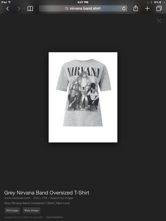 nirvana nirvana t-shirt t-shirt grey
