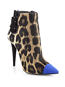 Giuseppe Zanotti - Leopard-Print Calf Hair & Suede Ankle Boots - Saks Fifth Avenue Mobile