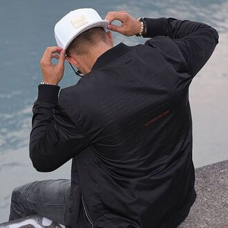 jacket maniere de voir bomber jacket velcro way of seeing panelled detailed snapback cap white gold snake embossed philippe gazar 36683