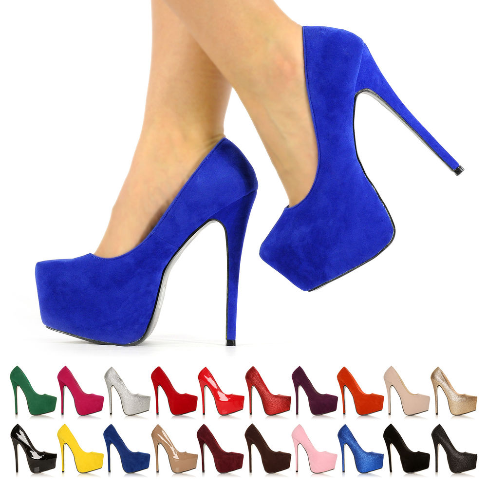 NEW WOMENS PARTY PLATFORM PUMPS KILLER HIGH HEELS STILETTO COURT SHOES SIZE 3-8 | eBay