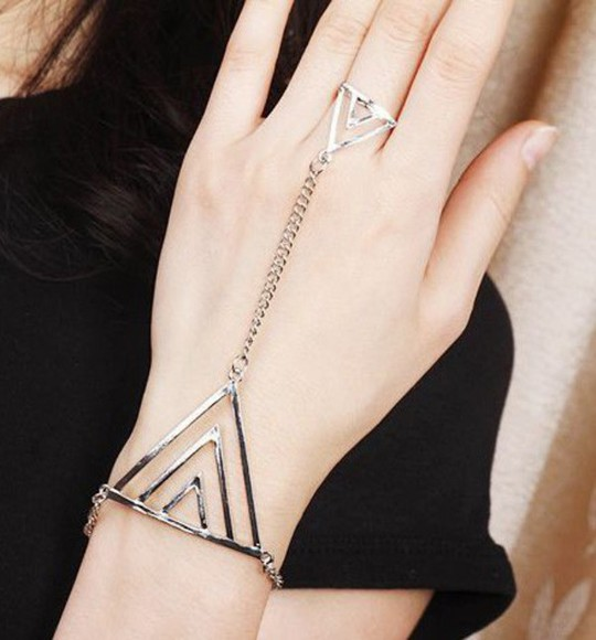 jewels triangle cute fashion women bracelet ring set hollow jewelry cool jewelry ring bracelets summer summer jewelry unique popular jewelry style women fashion beautiful