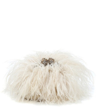 leather clutch clutch leather white bag