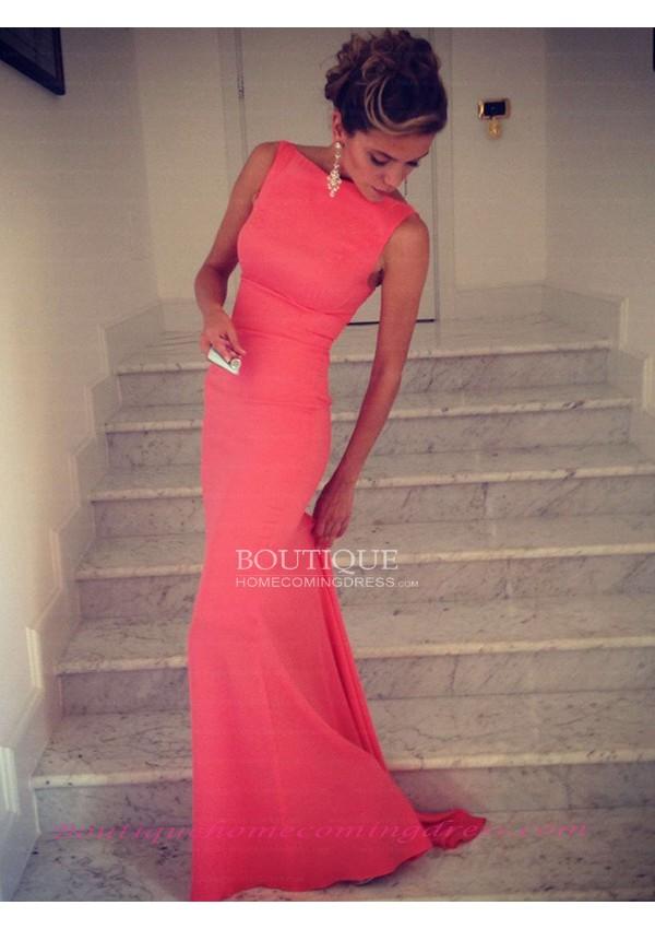 Spandex sleeveless prom dress