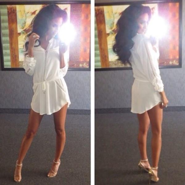 dress white dress t-shirt dress shoes
