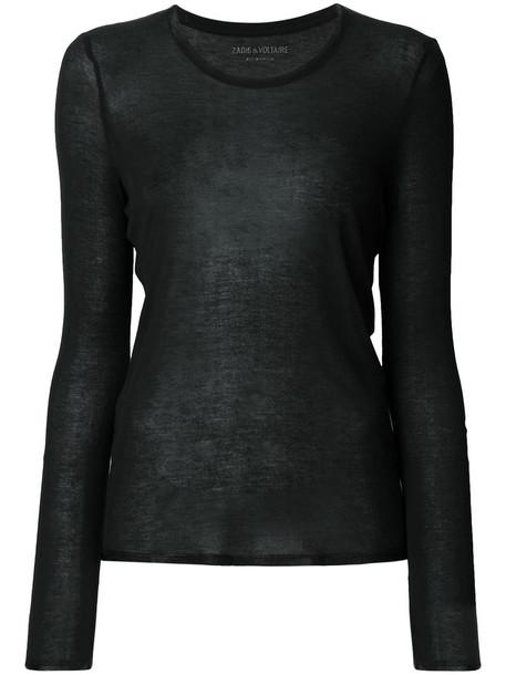 Zadig & Voltaire t-shirt shirt t-shirt women black top