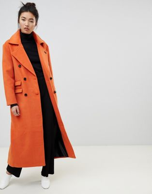 Neon Rose maxi double breasted overcoat at asos.com