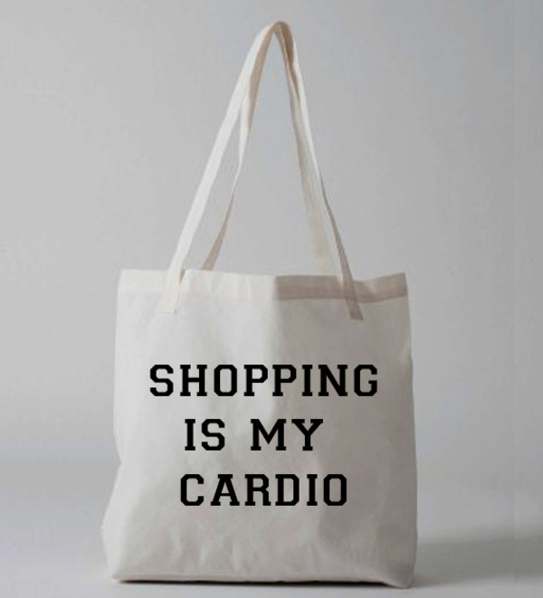 bag tote bag shopping grphics quote on it graphic bag tote bag shopping is my cardio