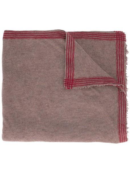 women scarf silk wool brown