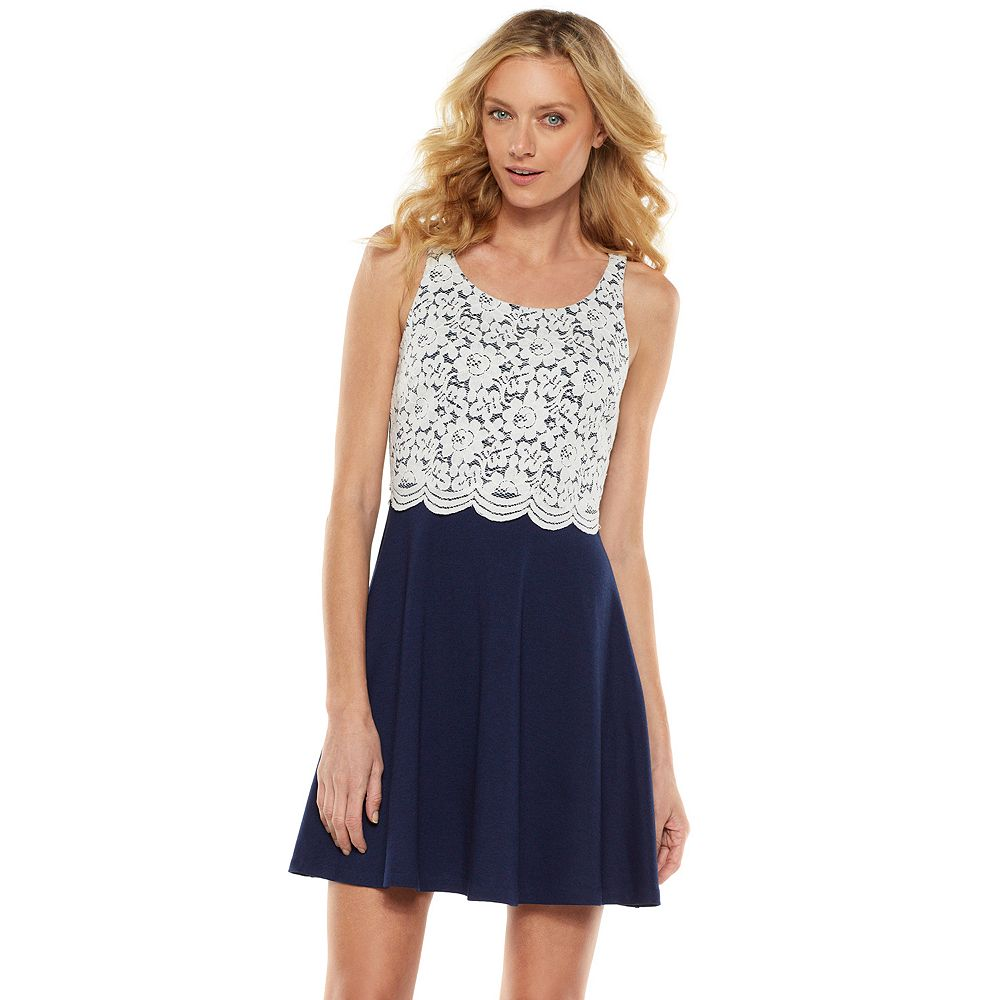 Lc lauren conrad lace knit dress