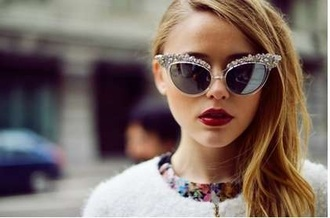 sunglasses retro sunglasses rhinestones dsquared
