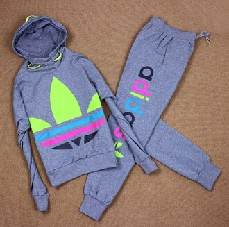 jumpsuit adidas jacket pants hoodie gray rainbow multi colored tracksuit suits for women