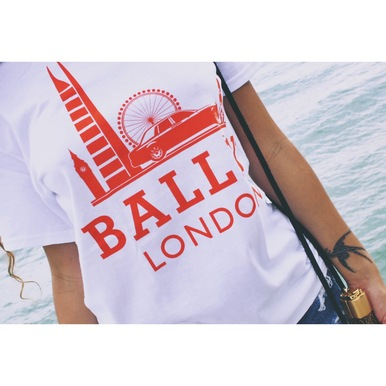 BALLIN LONDON WHITE & ORANGE T-SHIRT - brcsc