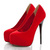 Fashion Round Closed Toe Stiletto High Heels Red Suede Pumps_Pumps_Womens Shoes_Cheap Clothes,Cheap Shoes Online,Wholesale Shoes,Clothing On lovelywholesale.com - LovelyWholesale.com
