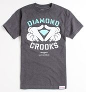 t-shirt,diamonds,crooks and castles,grey,grey top,diamond supply co.,baby blue,micky mouse hands,graphic tee
