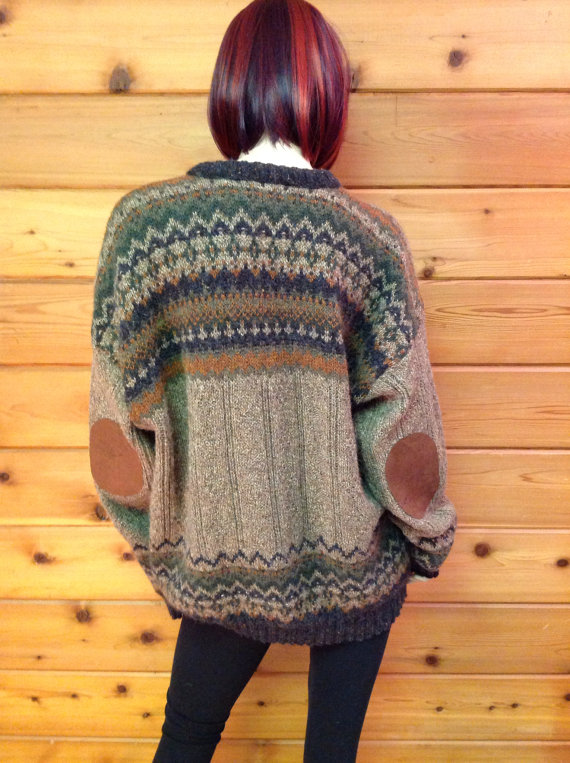 Hipster sweater with  elbow by Cranberrymoondesigns on Etsy