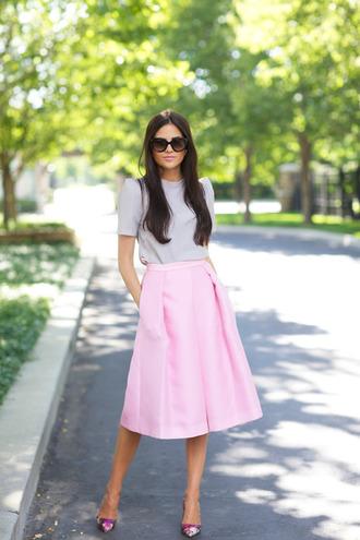 skirt midi skirt pink pink skirt