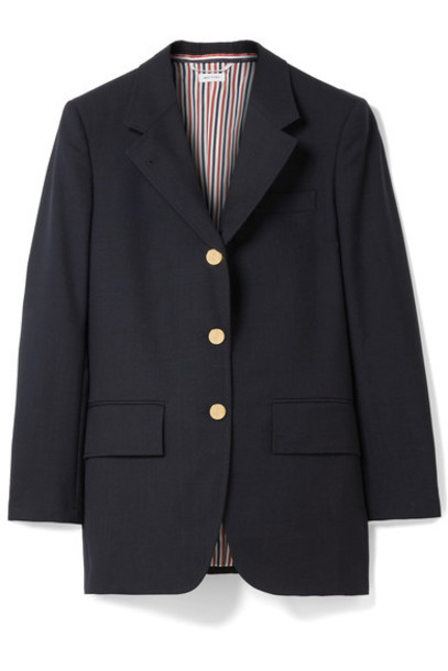 Thom Browne blazer blue wool jacket