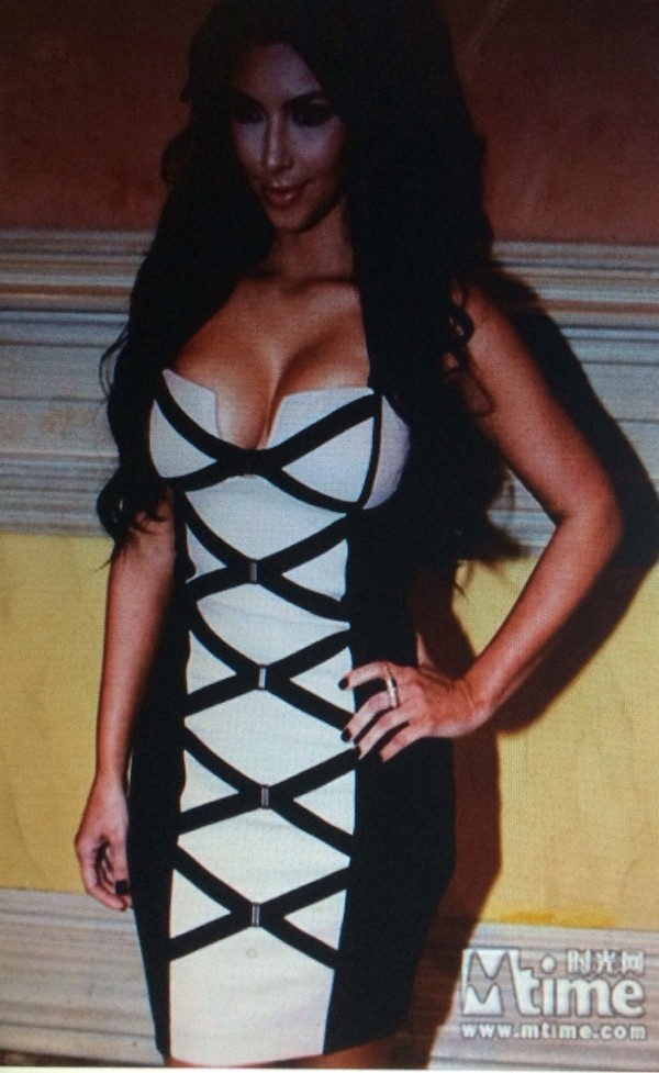 dress kim kardashian kim kardashian dress strappy dress bodycon bodycon dress celebrity style gorgeous