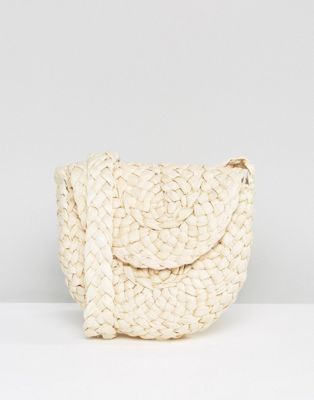 Glamorous Paper Straw Cross Body Bag in Natural at asos.com