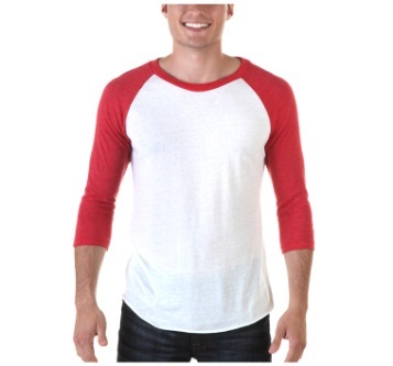 Alternative Eco Jersey Baseball True Red T-Shirt