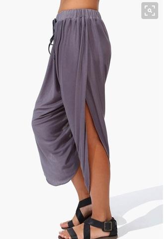 pants grey summer harem pants