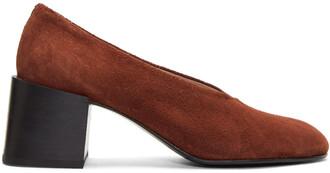 heels suede brown shoes