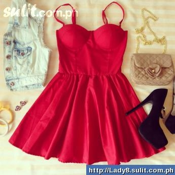 Red Bustier Dress Supplier - Brand New For Sale Philippines	- 23392975