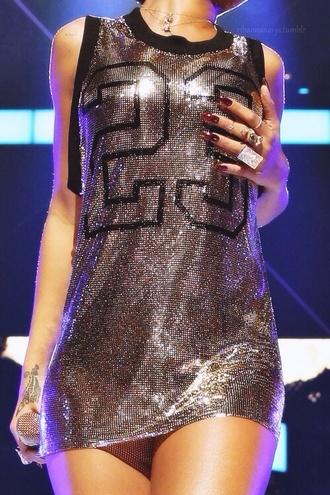 dress rihanna glitter dress glitter black little clothes girl