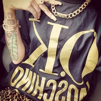 shirt ok moschino chain