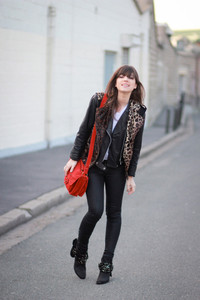 betty leopard black jacket