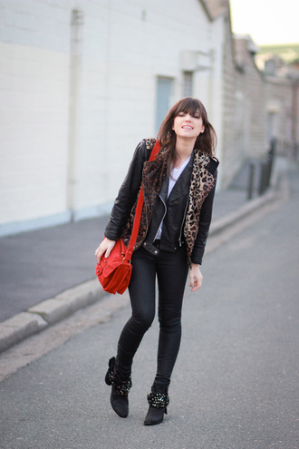 jacket black jacket betty leopard print