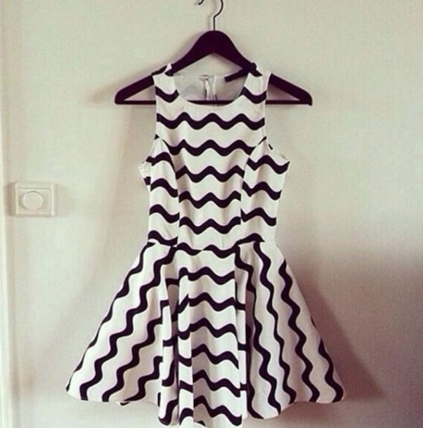dress stripes black white black and white stripey little black dress