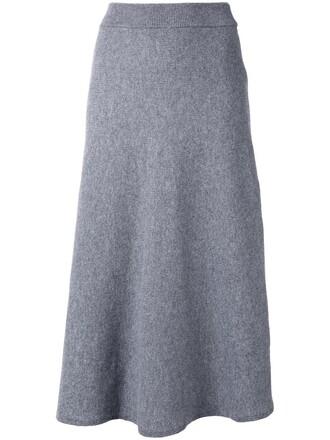 skirt midi skirt women midi grey