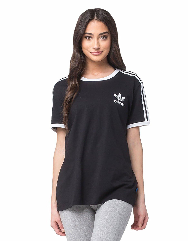 87a6e0f81aec1 adidas Women s Originals 3 Stripes Tee at Amazon Women s Clothing ...