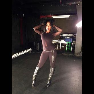 jumpsuit black top black jumpsuit black pants black heels leggings style fashion mesh mesh top bodysuit bodycon jumpsuit bodycon body body suit top long sleeves fitted