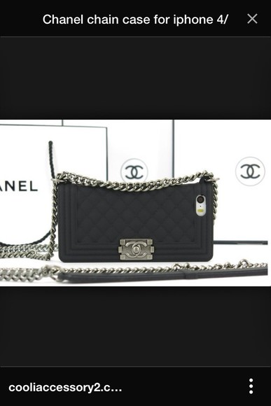 chain phone case bag chanel phone case iphone 4 case