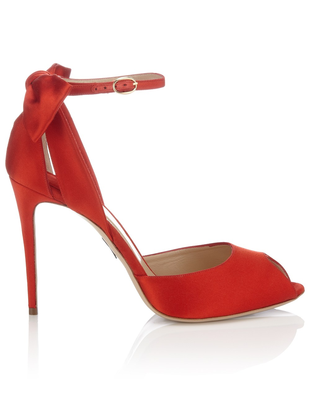 Red satin fatales sandals