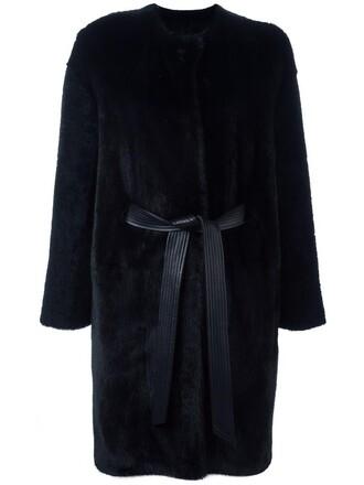 coat fur coat fur women blue