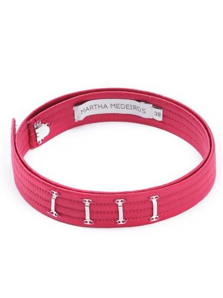 MARTHA MEDEIROS belt satin red