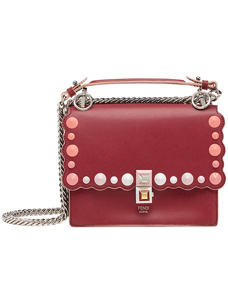 Fendi women abs bag shoulder bag leather red