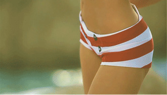swimwear nautical red white stripes buttons two-piece navy sailor