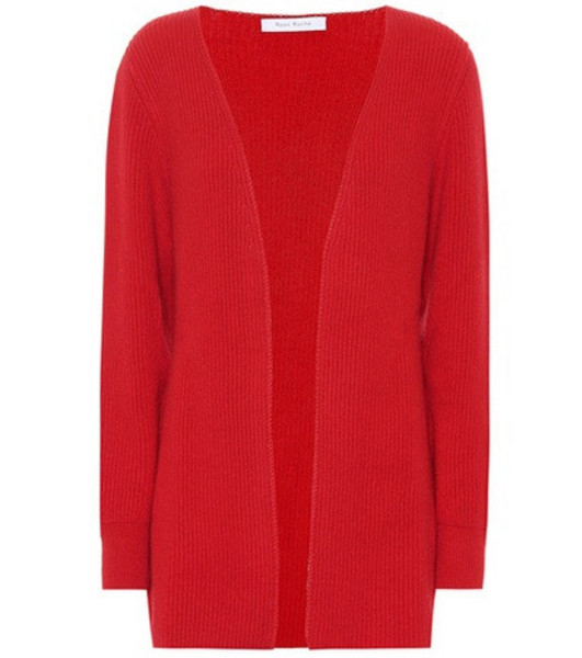 Ryan Roche Cashmere cardigan in red
