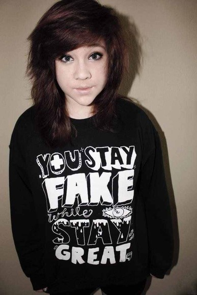 scene queen edgy edgy style cute sweater great cute sweaters big sweater