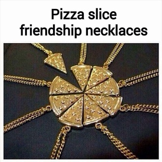 jewels pizza necklace friends