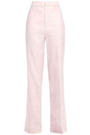 Tibi Woman Twill Straight-leg Pants Pastel Pink Size 6